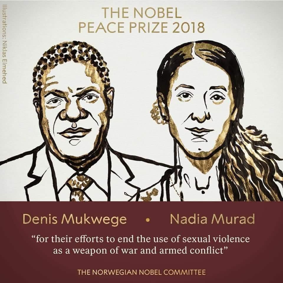 صورة الناجية الايزيدية تفوز بجائزة نوبل للسلام