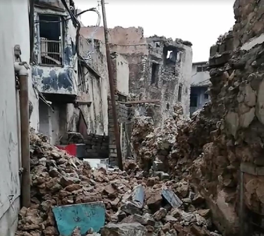 صورة انهيار عشرات المنازل في الموصل