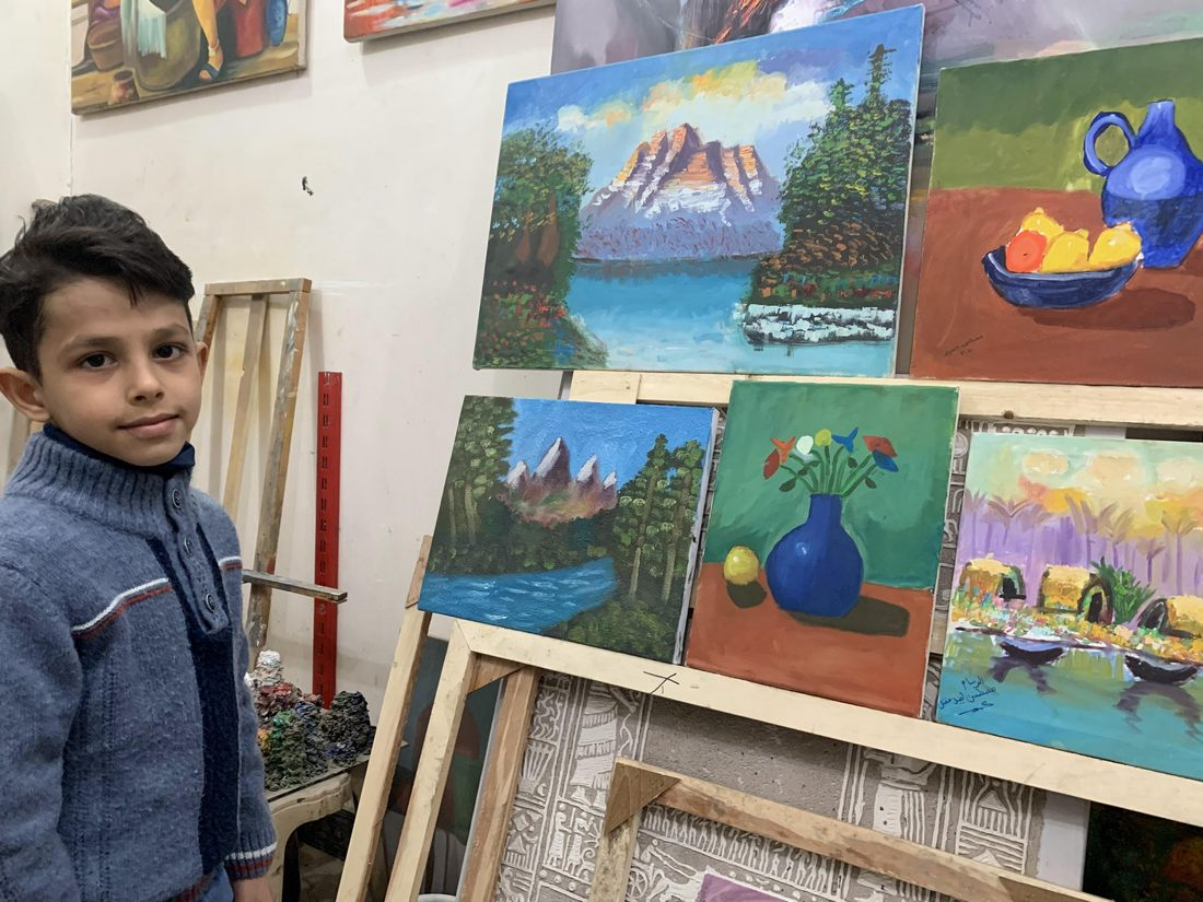Photo of THE YOUNGEST PAINTER IN DHI QAR: A talented local 10-year-old has created more paintings and exhibited more times than most adult artists.