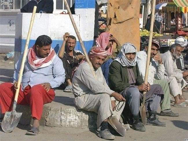 Photo of DAILY DISASTERS: Baghdad's day workers labour for a daily fee. But thanks to the COVID-19 pandemic, nobody wants to hire them.