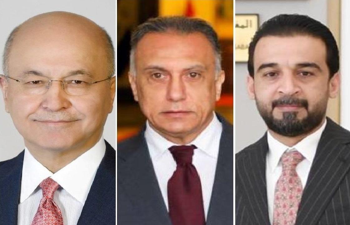 صورة صالح والكاظمي والحلبوسي: الديناميكية السياسية جلبت ثلاث رئاسات غير موثوقة لإيران